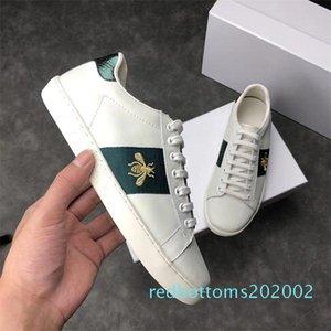Роскошная Италия Bee зеленый красный полосы Мужчины Женщины кроссовки Повседневная обувь дешевые модные Ace модельер кроссовки для ходьбы Chaussures AF27