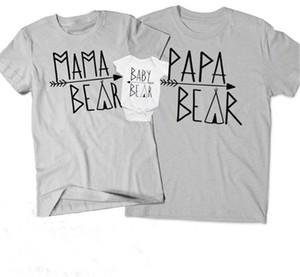 T-shirt assorti parent-enfant Tenue familiale Tenue assortie Manches courtes Lettre Cou Cou Couché Décontracté Enfants Barboteuse 32