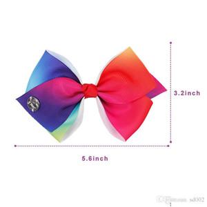 6inch Jojo Siwa cheveux Bows Set enfants bowknot Barrette épingle à cheveux avec carte paniers Vintage femmes Bijoux 16 5dz Ww