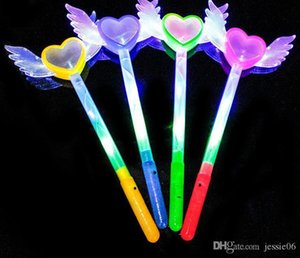 Led Magic Wands Flash Fairy Angel Heart Wings Wand Cosplay Fancy Dress Glow Sticks Party Light up Atmosphere props Props Favors gift