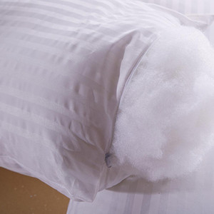 Beyaz katı yastık yastık% 100 pamuk yastık kılıf aşağı çekirdek yerine çekirdek, iç yastık paddingLE66 atma dolu