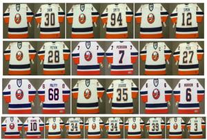 Винтаж Нью-Йорк Айлендерс Трикотажные изделия 30 GARTH SNOW 94 Райан Смит 12 КРИС СИМОН 28 ФЕЛИКС ПОТВИН 7 СТЕФАН ПЕРССОН 27 ПЕКА 3 ХАРА Ретро хоккей