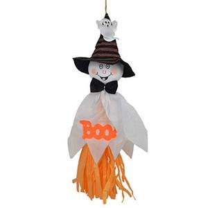 El fantasma de Halloween ornamento colgante decoraciones de Halloween Ghost Tire de la flor de Ghost Festival Puntales colgante de calabaza para el Hotel Kinder Haunte