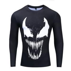 새로운 인기있는 독 T 셔츠 남성 여성 3D 프린트 패션 긴 소매 t- 셔츠 스트리트 압축 셔츠 드롭 배송
