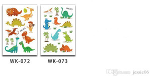 Raffreddare Dinosaur tatuaggio temporaneo Adesivi favori di partito Goodie Bags animali del fumetto di compleanno dei capretti regalo impermeabile Tatoo della decorazione
