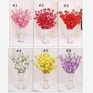 Düğün Dekorasyon sahte Çiçekler Ev Dekorasyonu Dekoratif Çiçekler için 65cm Yapay Çiçekler Şeftali Çiçeği Simülasyon Çiçek