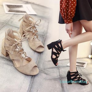 Pop2019 Hairtail Bind Crossing Mouth Hollow Out Coarse With Back Zipper Will Rome Woman Sandals