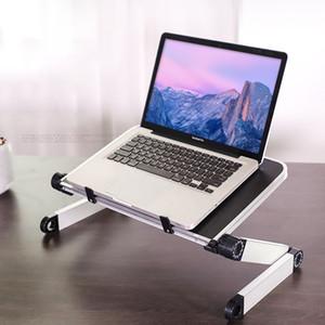 Ajuste universal de 360 grados de aleación de aluminio plegable portátil Laptop Stand de la tableta Para Macbook Pro Notebook Laptop Support Desk