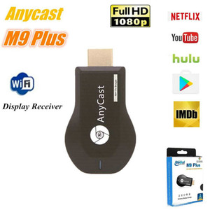 AnyCast M9 Plus WiFi Display Dongle Receptor Soporte Chromecast Netflix Youtube 1080P HDMI TV DLNA Airplay Miracast para iOS Mac Android