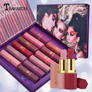12Pcs Set Nude Matte Lipstick Set Red Bean Color Long Lasting Waterproof Women Makeup Gift New