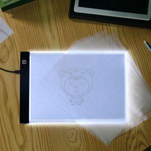 LED Işık Pad A5 Çizim Kurulu DIY Aydınlık Yazı Tablet Çizim Tablet LED Işık Kutusu Boyama Grafik Tablet LED Karikatür