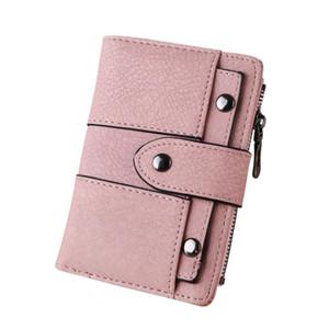 2018 marca ultime morbide in pelle breve portafoglio donna cambia hasp clasp borsa frizione soldi titolare della carta del telefono portafogli femmina