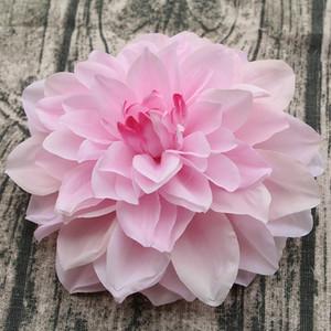 2020 10PCS / lotto Grande Dahlia artificiale capo del fiore del Peony 14 / 15CM Dia Fiore di seta Wedding Flowers Party Decorazione floreale decorativo domestico