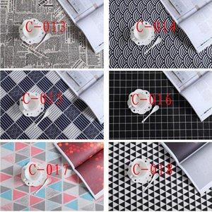 47 * 68cm Coton et lin Torchon feuille d'impression serviette de table d'eau Dîner Uptake Tissu 40 Styles Napperon ZZA1369