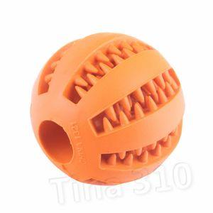 pet Giocattoli Palla di gomma giocattolo Diametro 5 cm Funning gomma Pet Giocattoli Palla Chew pulizia dei denti palle cane forniture T2I5598