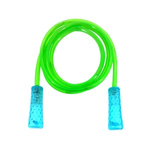 Light-up Jump Rope Outdoor LED Flashing Skipping Rope Sports Equipment for Kids Children (Green)