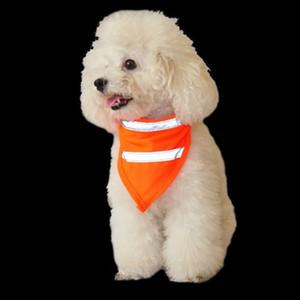 Dog Reflective Scarf Segurança Pet Scarf Refletindo Neon Pet Bandana Cat Ajustable Scarf Pet Lenço Dog Vestuário terno segurança T2I51083