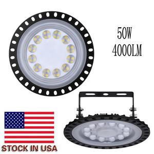 Lampada LED Flood UFO LED ad alta luce della baia 50W 4000LM luce IP65 impermeabile Mining Highbay Lamp Work Shop stree luci