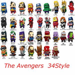 شخصيات كرتونية من لعبة The Avengers Justice League ، باتمان وندر امرأة ، سوبرمان ، أكوامان ، ذا فلاش سايبورغ ، هدية للأطفال