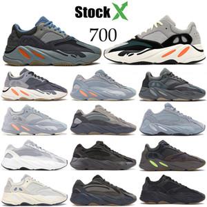 Tephra statica Kanye West utilità v2 nero delle donne degli uomini scarpe da corsa geode inerzia vanta malva Designer 700 confortevoli scarpe da tennis US 5-11,5