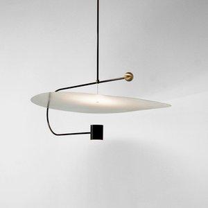 Lampade moderne del lampadario di zona dell'ufficio del ristorante semplice moderno linea creativa della camera da letto di studio soggiorno luci del pendente del LED