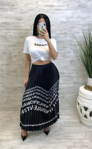 Skirts Mid Calf Solid Color Female Clothing Dresses Loose Casual Fashion Apparel Womens Summer Designer Letter Print Chiffon