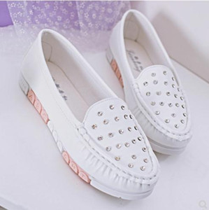2019 Women's shoes in Spring and Autumn with New style flat bottom round head @01