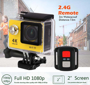 Eylem kamera deportiva Orijinal EKEN H9 / H9R uzaktan Ultra 4K WiFi 1080P 2.0 LCD 170B spor yanlısı kamera gitmek 60fps