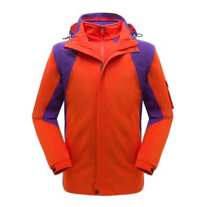 New Style Outdoor Mountaineering Clothing Raincoat Jacket Men And Women Three-in-One-Piece Waterproof Windproof Cold Protective