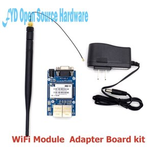 Freeshipping 1set HLK-RM04 RM04 Uart Serial Port to Ethernet WiFi Wireless Module with Adapter Board Development Kit