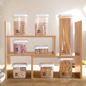 Recipientes de almacenamiento de alimentos al por mayor Recipientes de plástico para almacenar alimentos Contenedor de cocina Café Contenedor de té Almacén de alimentos # 407