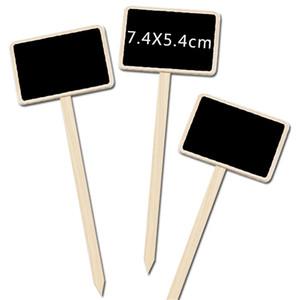 Mini Chalkboard en bois Creative Craie Tableau noir Signes Jardin Fleurs Plantes Maison Tags Étiquettes Party Decoration Artisanat VT0430