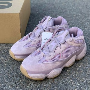 500 morbida Vision Rosa Scarpe Kanye West Viola Designer corridore dell'onda 500 Designer Sport Sneakers size36 ~ 46 Esecuzione