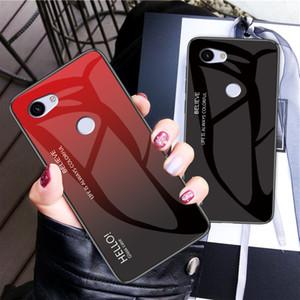 Caja del teléfono de vidrio templado degradado para Google Pixel 3A XL 3A 3 XL 2 XL Motorlora Moto G6 Plus G6 Play G5S Nokia