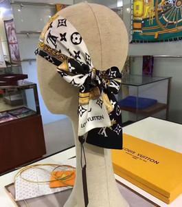 Großhandelsmarke Seidenschal Mode für Männer und Frauen Haarband Marke gedruckten Bogen Seidenschal Mode Handtasche dekoratives Band 120 * 8cm