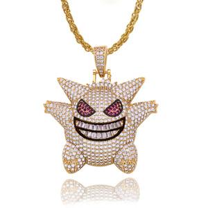 Nouveau Desigh zircon hip-hop pendentif collier pour dames pet elfe genghost pendentif HIPHOP hip-hop collier