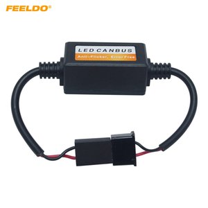 FEELDO 2PCS Car LED Head Light Aviso Canceller erro Carga gratuito resistor para H7 faróis LED Canbus Erro gratuito # 5569