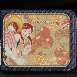 Love Complex wallet Koizumi Risa anime purse Ootani Atsushi short cash note case Money notecase Leather jean burse bag Card holders