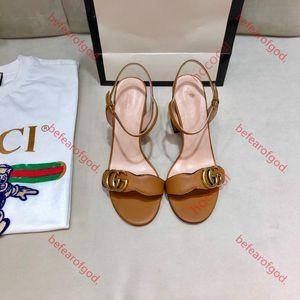 Gucci sandals 7cm Original-Logo heißer Verkauf Europeanluxurioustyle Damen hococal Sommer Gold-Silber-High Heel Sandalen Marke vergoldet Käfigboden Sandalen