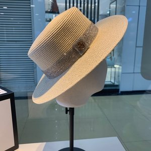 새로운 트렌드 남성과 여성 캐주얼 가볍고 통기성 야생 해변 밀짚 모자 organza 패션