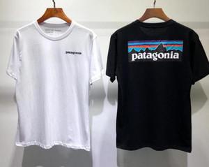 Verão T camisa de manga curta homens mulheres amantes moda homens mulheres camisetas Patagonia