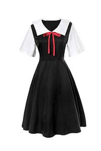 Shinomiya Kaguya Fujiwara Chika Cosplay Uniforme vestido japonés Anime vestido dulce