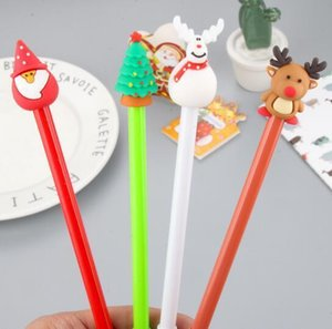 Cute Cartoon Christmas Series Neutral Pen 0.5mm Black Creative Students Pen for Christmas Gifts Office Stationery