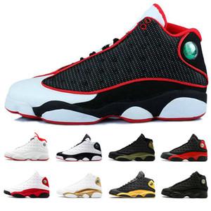 13 Erkekler Basketbol Ayakkabı siyah, kırmızı, beyaz Uçuş Sneaker Ayakkabı Of DMP Kara Kedi He Got Game Play-Gri Burun Geçmiş yetiştirilen