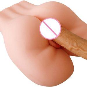 Реалистичная мужской мастурбаторы силиконовые 3D задницу с искусственной вагины анальный секс-игрушки для мужчин половина тела куклы секса Y200411