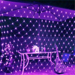 Nuovo 8m * Lampade 10m 6M * 4M 3M 2M * 2m * 2m 1.5M * 1.5M MeshString luci nette del LED a soffitto Christmas Party Wedding decorazione esterna
