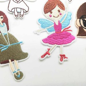 İşlemeli Kumaş Giyim Patch İçin Giyim Kız Erkek Toptan üzerinde Ballerine Balerin Balesi Güzel Kız Prenses Demir