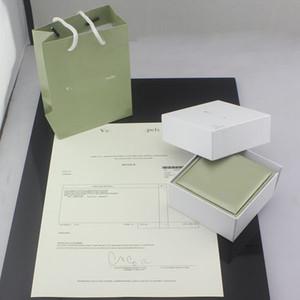 Moda de Nova mais alta qualidade de cor verde V pulseira caixa Colar Anel de jóias bolsas original por favor comprar com jóias send juntos