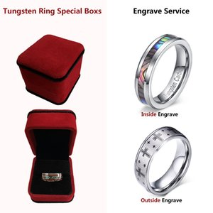 Here Is The Tungsten Ring Special Box And Engrave Service