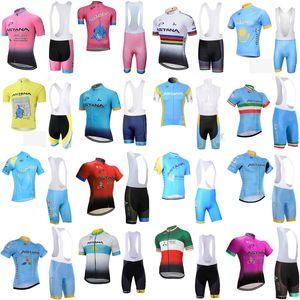 Comodo respirabile Maglia corte ciclismo corta ASTANA squadra maschile Estate BIB imposta MTB Quick Dry sportwear S62643